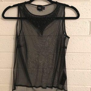 ASOS Black Sheer Sequin see-through Top